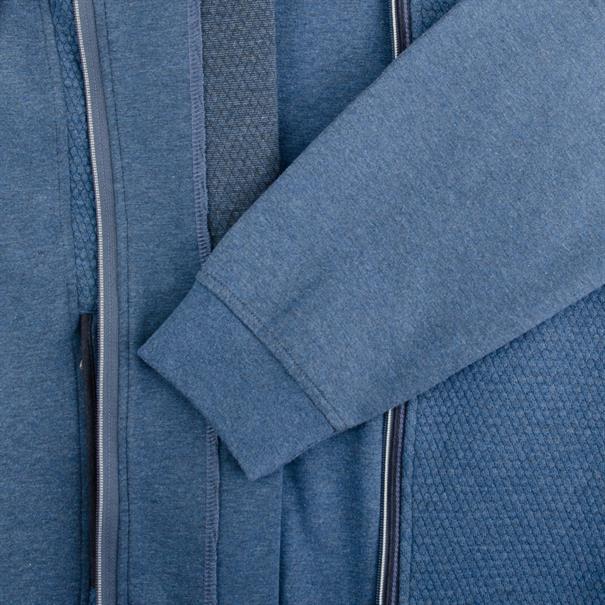FYNCH HATTON Sweatjacke blau-meliert