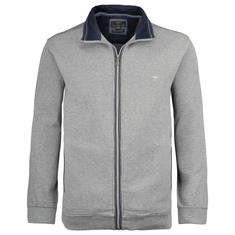 FYNCH HATTON Sweatjacke grau-meliert