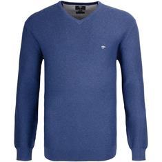 FYNCH-HATTON V-Pullover 3XL blau-meliert