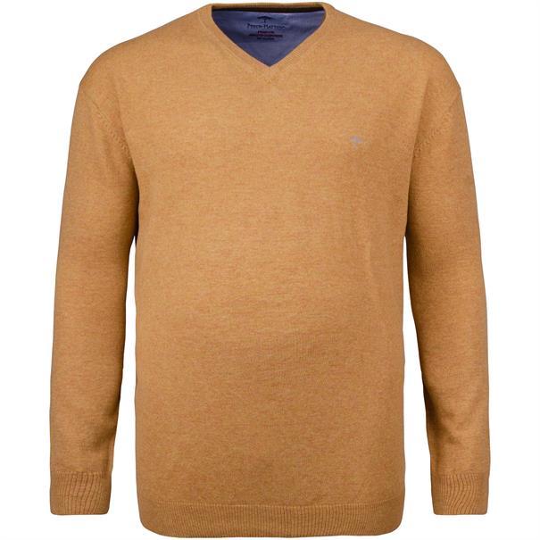 FYNCH HATTON V-Pullover beige