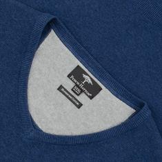 FYNCH-HATTON V-Pullover blau-meliert