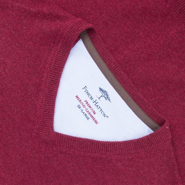 FYNCH-HATTON V-Pullover bordeaux