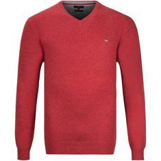 FYNCH HATTON V-Pullover rot-meliert