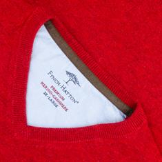 FYNCH HATTON V-Pullover rot