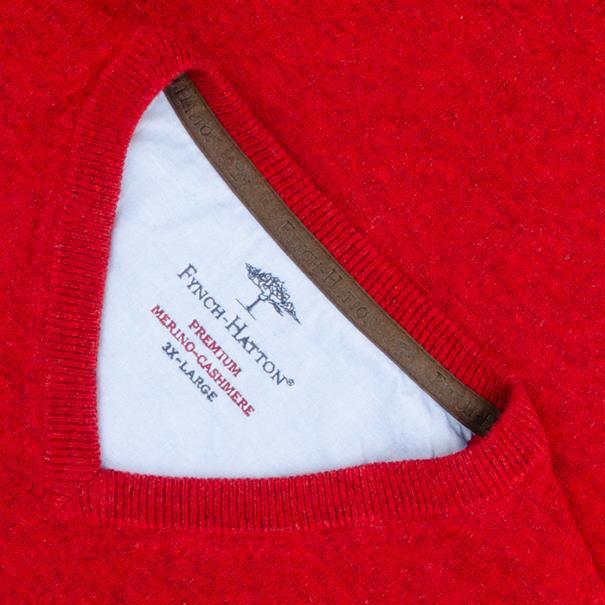 FYNCH HATTON V-Pullover rot
