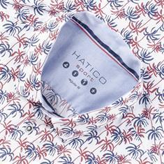 HATICO halbarm Freizeithemd weiß