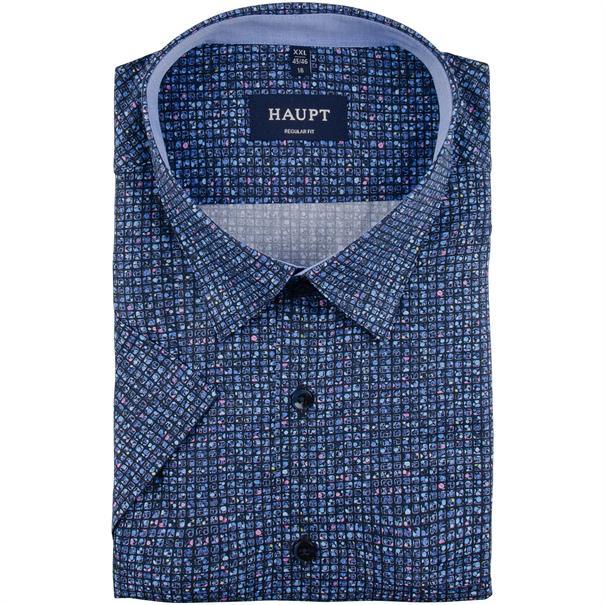 HAUPT halbarm Freizeithemd blau