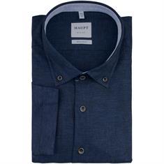HAUPT halbarm Freizeithemd dunkelblau