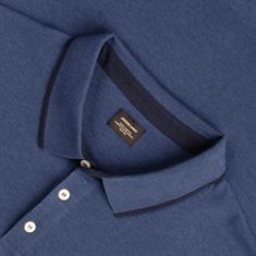 JACK & JONES Poloshirt blau-meliert