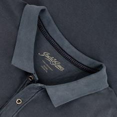 JACK & JONES Poloshirt jeansblau