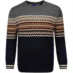JACK & JONES Strick-Pullover grau
