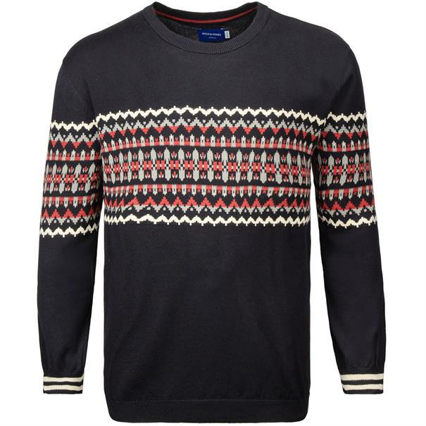 JACK & JONES Strick-Pullover marine