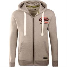 JACK & JONES Sweatjacke grau-meliert