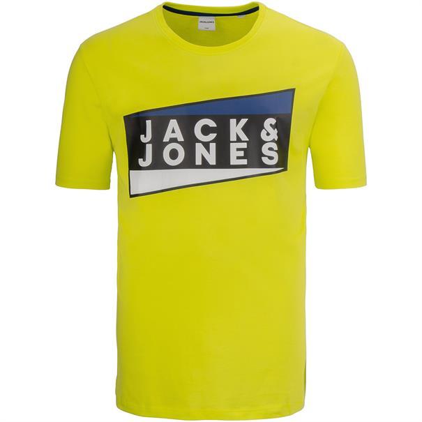 JACK & JONES T-Shirt neon-gelb