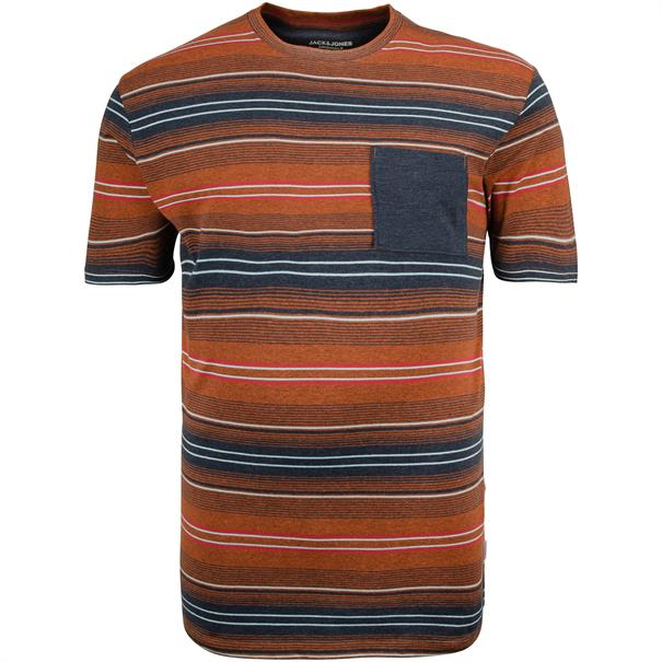 JACK & JONES T-Shirt rostbraun