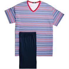 JADO halbarm Schlafanzug blau