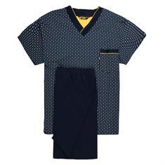 JADO halbarm Schlafanzug marine