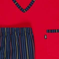 JADO halbarm Schlafanzug rot