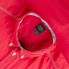 KITARO Freizeithemd - EXTRA langer Arm rot