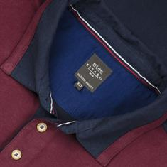KITARO langarm Poloshirt - EXTRA lang bordeaux