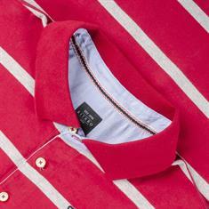 KITARO langarm Poloshirt - EXTRA lang rot