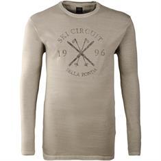 KITARO Langarm-Shirt - EXTRA langer Arm beige