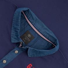 KITARO Poloshirt blau
