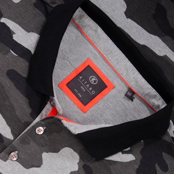 KITARO Poloshirt - EXTRA lang grau