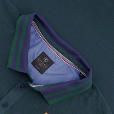 KITARO Poloshirt grün-meliert