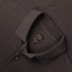KITARO Poloshirt grau-meliert