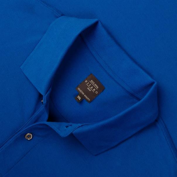 KITARO Poloshirt royal-blau
