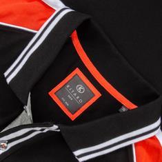 KITARO Poloshirt schwarz