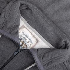 KITARO Sweatjacke grau-meliert