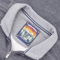 KITARO Sweatjacke grau