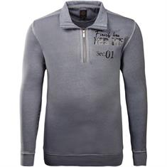 KITARO Sweatshirt blau-meliert