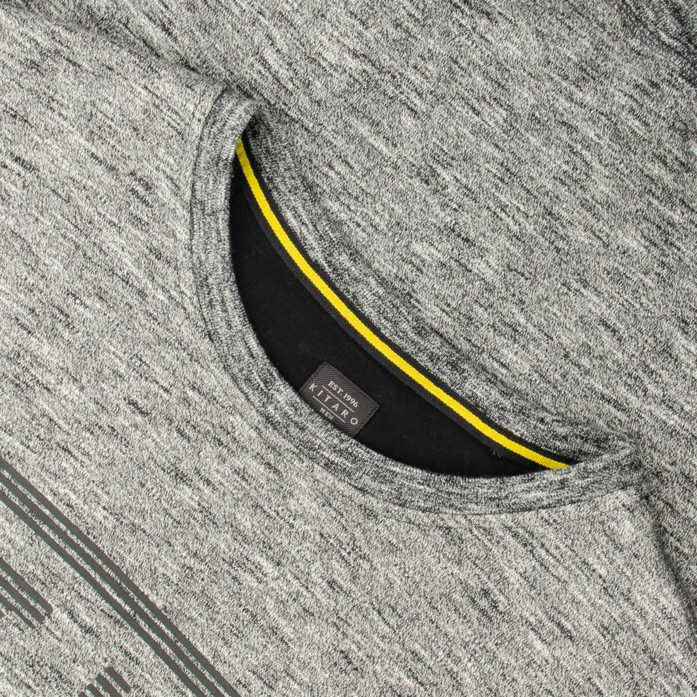 KITARO Sweatshirt EXTRA lang grau meliert