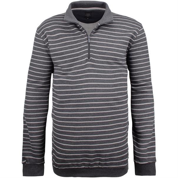 KITARO Sweatshirt - EXTRA lang grau-meliert
