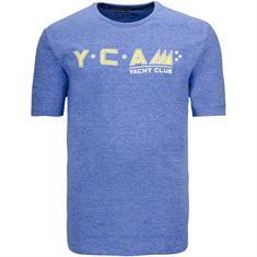 KITARO T-Shirt blau-meliert