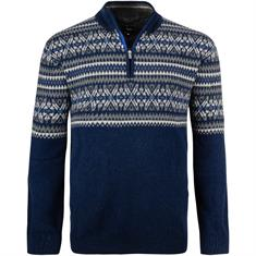 KITARO Zipper-Pullover blau-meliert