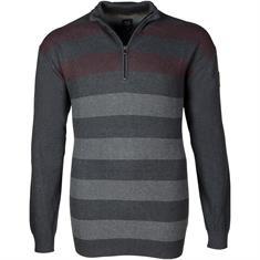 KITARO Zipper-Pullover - EXTRA langer Arm grau
