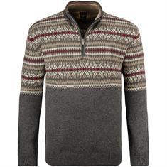 KITARO Zipper-Pullover grau-meliert