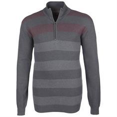KITARO Zipper-Pullover grau