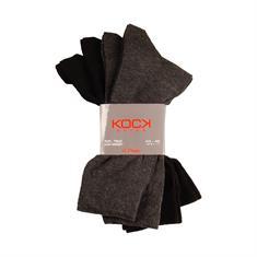 KOCK Socken, 4er Pack grau-meliert