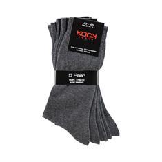 KOCK Socken 5er-Pack grau
