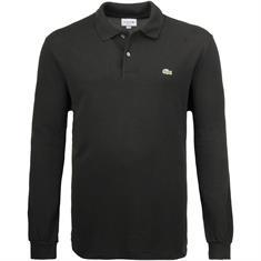 LACOSTE langarm Poloshirt schwarz