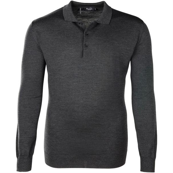 MAERZ Polo-Pullover Gr. 58 - 60 anthrazit