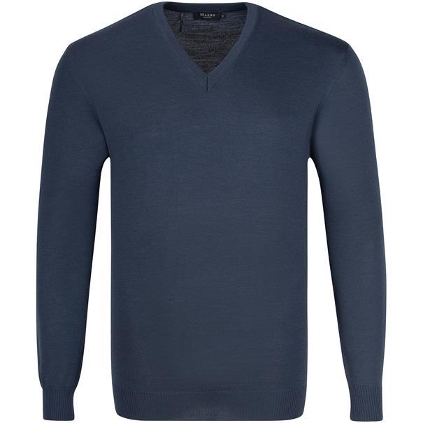 MAERZ V-Pullover Gr. 58 - 60 blau-meliert