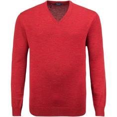 MAERZ V-Pullover Gr. 58 - 60 rot-meliert