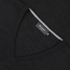 MAERZ V-Pullover in EXTRA LANG anthrazit