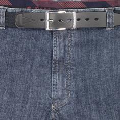 Mens Jeans mit Dehnbund Kurzleibform blau